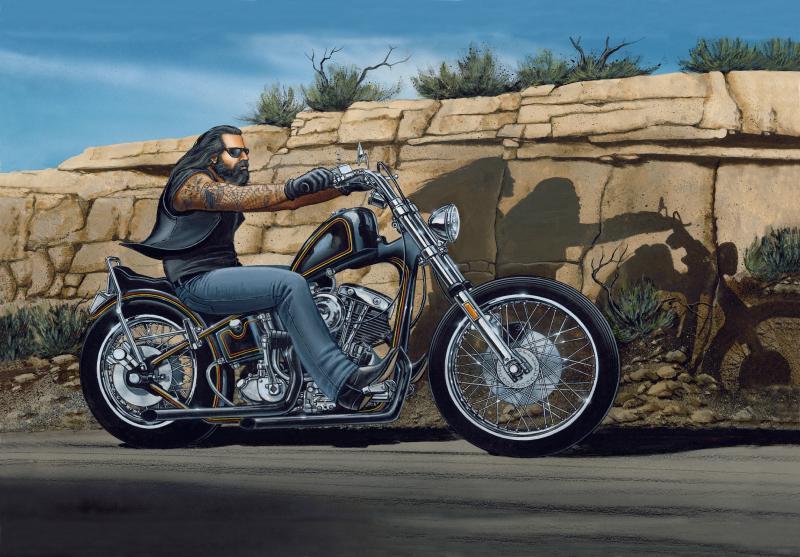 David Mann Ghost Rider Framed Print For Sale Joy Studio Design