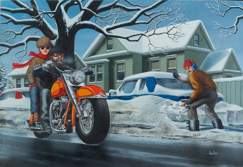 FineArtWorld - Motorcycle Art - David Mann